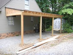 Cheap ga carports find deals on line at alibaba wooden dreams poolhouses garden rooms guesthouses. Lean to carport which trusted. Lean To Carport, Carport Sheds, Portable Carport, Carport Garage, Lean To Roof, Modern Carport, Garage Doors, Curved Pergola, Pergola Attached To House