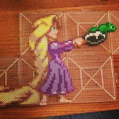 Rapunzel Tangled perler beads by flippinmidget10