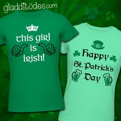 This Girl is Irish & Happy St. Patrick's Day t shirts.
