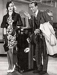 """Ginger Rogers  and Fred Astaire in The Gay Divorcee, 1933.  """"Oh Porter! Porter!""""  One of my all time favorite movies!!!!!"""