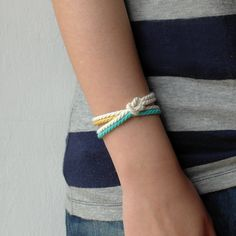 Summer bracelet Navy bracelet Nautical bracelet Rope by AMEjewels