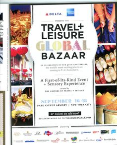 Travel + Leisure celebrates birthday, jump in ad pages with global bazaar Travel Ads, Travel And Leisure, 40th Birthday, Celebrities, Scrapbooking, Inspiration, Ideas, Biblical Inspiration, 40 Birthday