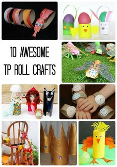 I'm sure you have a few toilet paper rolls laying around so why not have fun with them. Try one of these 10 awesome toilet paper roll crafts for kids.