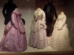 Late 1860s dresses, silk and cotton. Musée de la Mode et de la Dentelle, Brussels. Photo by Cristoph Houbrechts Vanhoorne.