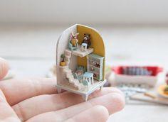 Dollhouse Miniature 1:12 Scale Mini Knitting Wool Balls With Basket Set Craft ♫