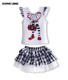 2017 fashion domeiland summer children clothing outfits sets for kids girl sleeved ruffle Sequin tops lace plaid skirt suits Baby Girl Dresses, Baby Dress, Fashion 2017, Kids Fashion, Girl Sleeves, Fashion Leaders, Plaid Skirts, International Fashion, Lace Tops