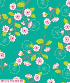 Chinese blossom pattern by Silvia Dekker