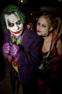 Characters: The Joker & Harley Quinn / From: Warner Bros. Films 'The Dark Knight' & Warner Bros. Interactive Entertainment's 'Batman: Arkham City' Video Game / Cosplayers: Leandro Cabezon as The Joker & Jessica Herrlein as Harley Quinn