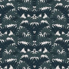 A classic from the brand, Inferno brings the leafy outdoors inside through its Art Deco-inspired climbing botanical fern. With its fanned leaves and sublime colour palette of teal and jade against a white background, Inferno brings a mesmeric beauty. Teal Wallpaper, Botanical Wallpaper, Luxury Wallpaper, Print Wallpaper, Pattern Wallpaper, Botanical Art, Banquettes, Teal House, Made To Measure Curtains