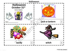 Halloween Emergent Readers 2 Booklets from Sue Summers on TeachersNotebook.com (6 pages)  - Each booklet contains 8 pages