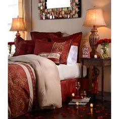 #Kirlands #Pinitpretty Queen Bella Red 8-pc. Comforter Set | Kirkland's