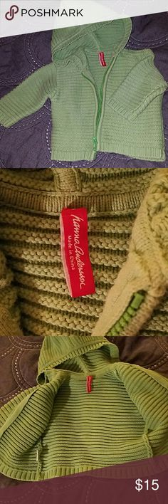 Hanna Andersson bright green knit jacket NWOT 18m Our little one is very particular about clothes and refuses to wear a green jacket but wants a pink Coach purse! (Mini Me) So I'm offering here a brand new Hanna Andersson thick knit jacket i100% cotton in bright green. Was only washed by hand after purchase. I've learned and let HER PICK LOL. My loss, your Win! BUNDLE AND SAFE!!!! Hanna Andersson Jackets & Coats
