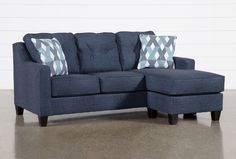 Crispin Sofa With Reversible Chaise Couch With Chaise, Chaise Sofa, Small Apartment Living, Living Spaces, Living Rooms, Blue Living Room Sets, Sectional Sleeper Sofa, Cuddling On The Couch, Pull Out Bed