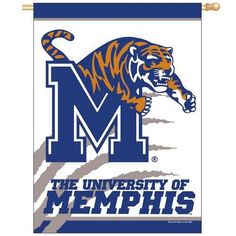 University of Memphis Tigers Vertical Outdoor House Flag