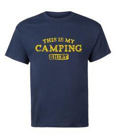 LC trendz Mens Navy This Is My Camping Shirt Tee - Mens Regular   zulily