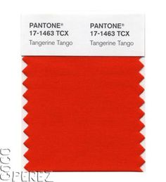 Tangerine Tango is the official color of 2012.