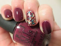 Polish and Puppies: OPI Casino Royale with accent The Living Daylights