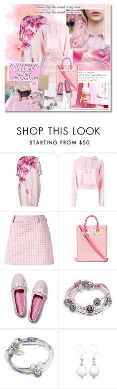 """""""Pink galore - Lizzyjames.com"""" by undici ❤ liked on Polyvore featuring Giambattista Valli, Steve J & Yoni P, Puma, Sophie Hulme, Keds, Lizzy James, jewelry, bracelet, earrings and accessories"""