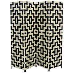 Anastasia Paper Straw Weave 4-Panel Room Divider - #6J205 | Lamps Plus