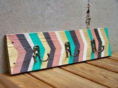 Reclaimed Wood Arrow Coat Rack with Dark Bronze Hooks by Rustic Wood Originals, $80.00