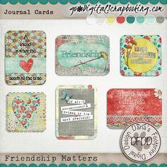 July Mixology Friendship Matters Journal Cards