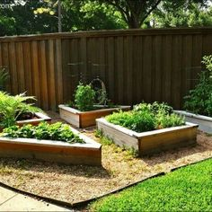 small-raised-flower-beds-for-raised-garden-beds-with-lawn-and-wood-fences-ideas-also-raised-herb-garden-with-garden-decoration-ideas-and-backyard-landscaping-ideas-with-outdoor-design