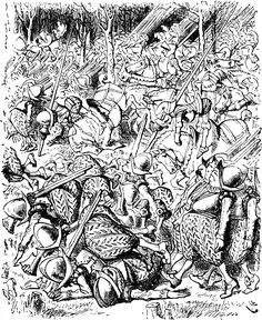 #33 - John Tenniel - Through the Looking Glass - All the King's horses and men