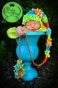 Newborn to 3 months baby boy or girl elf hat t photography props handmade. $29.00, via Etsy.
