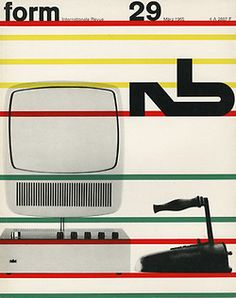 Form, german design magazine, 1957-1965. March issue, 1965. Westdeutscher Verlag, Cologne. Plakatkontor.
