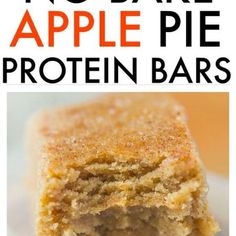 Apple Pie Protein Bars