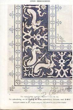 Gallery.ru / Фото #30 - Assisi Embroideries - Dora2012 Borderlands, Clematis, Cross Stitching, Blackwork, Fiber Art, Cross Stitch Patterns, Stencils, Bohemian Rug, Gallery