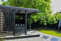 Black Garden Pavilion and Step Stones. Landscape Design, Garden Design, Outdoor Rooms, Outdoor Decor, Garden Pavilion, Black Garden, Ireland Landscape, Garden Landscaping, Stones