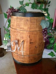 Wine Barrel Card Box Wedding 2017 05 28 10 27 18