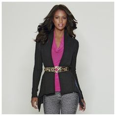 Shop K Jordan for High fashion women's clothing with low monthly payments using K Jordan payment plan! Kimora Lee Simmons, Baby Phat, Long Sweaters, Dress Me Up, High Fashion, Jordans, Dressing, Blazer, Book