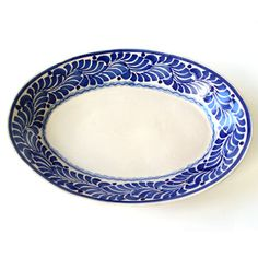 Toss a green salad in this beautiful #blueandwhite platter for the Fourth of July.