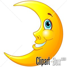 CLIPART SMILING MOON