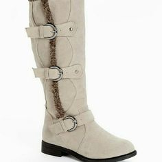 BUCCO Suvega boots Color: Stone  This is sold out everywhere. NEW IN BOX. Bucco Shoes Heeled Boots