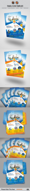 Travel Flyer Template Vector EPS, AI #design Download: http://graphicriver.net/item/travel-flyer-v6/13946251?ref=ksioks