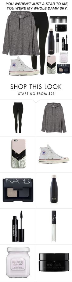 """Just A Star"" by lost-in-a-paper-town ❤ liked on Polyvore featuring Topshop, Gap, Harper & Blake, Converse, NARS Cosmetics, S'well, Edward Bess, Laura Mercier, arbÅ« and Sephora Collection"