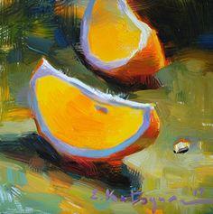 Citrus Slices by Elena Katsyura Oil ~ 6 in x 6 in