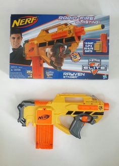 Nerf gun N-Strike Elite Rayven CS-12 and 12dart clip. May shows some wear from play. Original Box. | eBay! #nerf #nerfgun #toy #rayven #strike #rayvennstirke