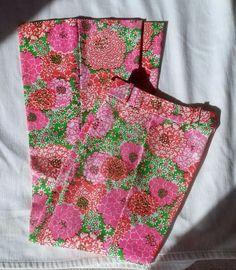 Vintage Lilly Pulitzer Mod Hippie 1960's Bell Bottom Pants sz 2 - 4 pink Green  #LillyPulitzer