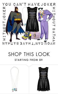 """Batman and Joker"" by janastasiagg ❤ liked on Polyvore featuring batman, joker and DC"