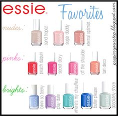 Like many girls, I love to paint my nails! Lots of people have a favorite brand when it comes to nail polish and I am no exception! Essie is. Essie Nail Polish Colors, Nail Polish Designs, Nail Colors, Nail Designs, Mani Pedi, Manicure, Hair And Nails, My Nails, Dream Nails