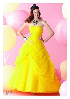 A REAL BELLE DRESS! Alfred Angelo- why were you not into designing Disney dresses when I was in school? I looked far and wide for the perfect Belle dress and this looks almost exactly like hers! Disney Prom Dresses, Homecoming Dresses, Bridesmaid Dresses, Grad Dresses, Prom Gowns, Bridesmaids, Long Formal Gowns, Belle Dress, Poses