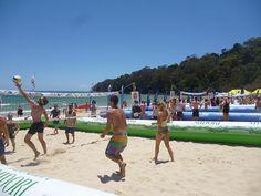 Beach Volleyball on Noosa Main Beach.