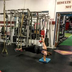 "When a client  @nancyalbinson wants to have just a little more of a challenge to an exercise on her 3rd set how can I resist. Just do a simple #trx side plank with a dumbbell lateral raise 20xs each side please. Lol progressing is inevitable at C Results Fitness. I like to present a challenge to my clients to push them harder every time. You never know your capabilities until your pushed. I always say start with someone's form before you can progress them to the ""cool"" stuff. To many people…"