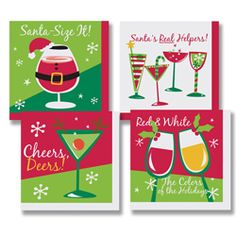 Santa's Helpers Paper Beverage Napkins – Assorted