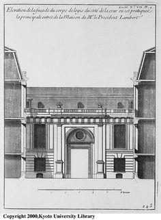 09. 1d. Hôtel Lambert, élévation de l'entrée coté cour