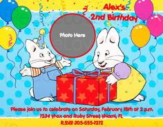 Max and Ruby invite this one is cute